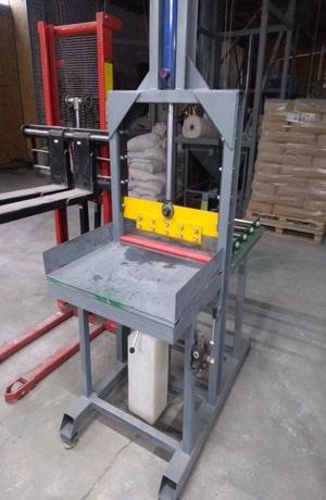 Фото гильотины для нарезыния каучука и других подобных материалов